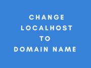 change localhost to domain name for XAMPP